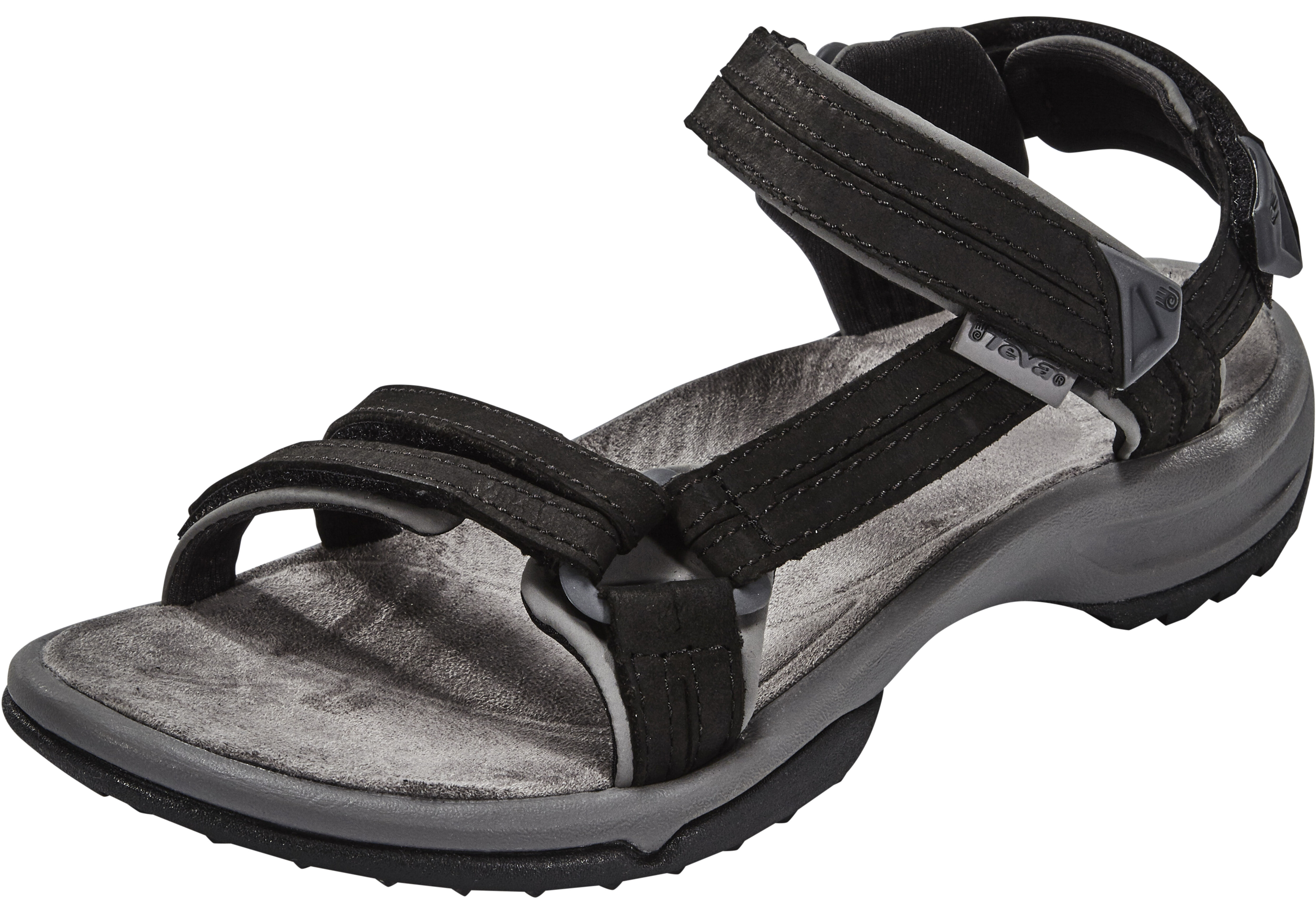 867075c39ab24d Teva Terra Fi Lite Leather Sandals Women black at Addnature.co.uk